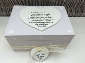 Shabby Personalised Chic In Memory Of A Loved One ~ Any Name ~ Memory Box ~ - 232475342959